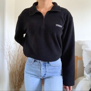 Vintage DKNY Black Fleece Pullover Sweatshirt